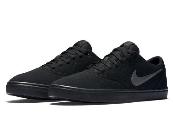 wholesale dealer 09484 7c751 Nike SB Check Solar CNVS 843896002 Noir Baskets basses 45.5 Eur42.5 27.0cm uk8.0 us9.0    Achetez sur eBay