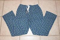 Vineyard Vines Mens Xs Woody And Tree Print Flannel Lounge Sleep Pants