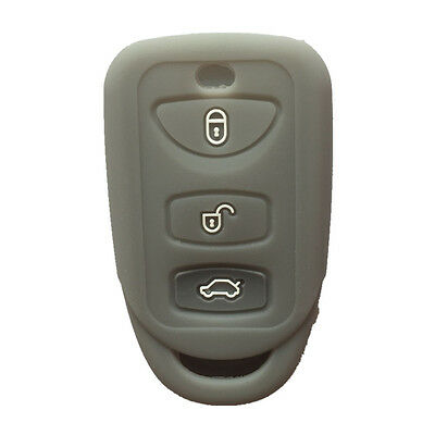 Gray Key Fob Skin Key Silicone Case Cover Key Jacket fit for Dodge Chrysler
