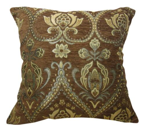 Pillow Cover Wk10 Black Damask Chenille Canapé Siège Pad Coussin CASE taille personnalisée
