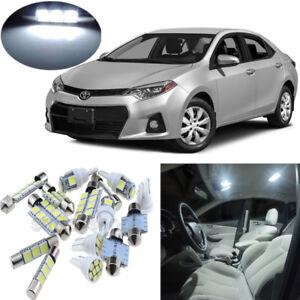 7pcs white interior led light package kit for toyota - 2015 toyota corolla interior lights ...