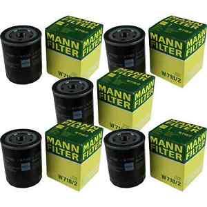 5x MANN-FILTER Oil Filter W 718/2