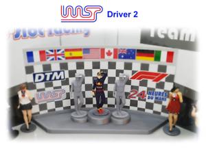 Rennfahrer Nicht Lackiert Figur Gitter Trackside Landschaft Pit Lane D2 Spielzeugautos