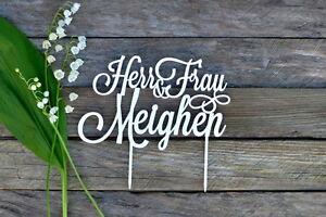 Cake Topper Herr Und Frau Nachname Hochzeitstorte Gold Silber Weiss