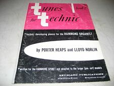 TUNES FOR TECHNIC BOOK 2 HAMMOND ORGANS SHEET MUSIC SONGBOOK 1960 20pgs