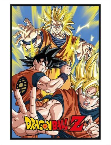 Dragonball Z Poster Goku DBZ Gloss Black Framed 61x91.5cm