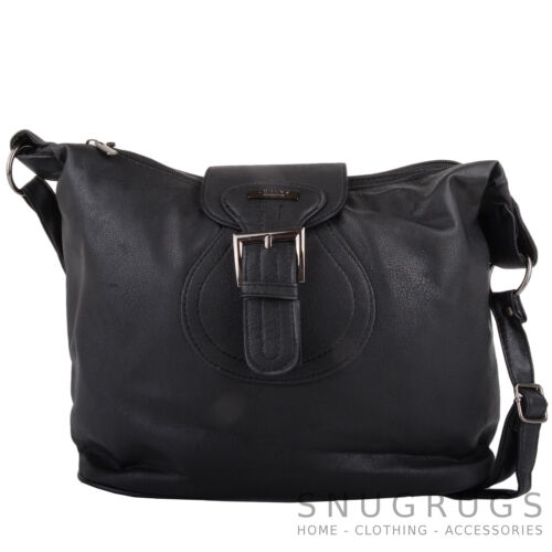 Hand Bag with Multiple Pockets Womens Faux Leather Shoulder Ladies