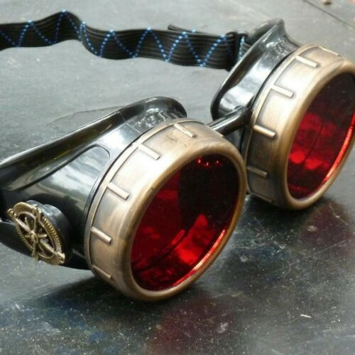 Steampunk Crazy goggles Burning man party costume accessories gcg Halloween