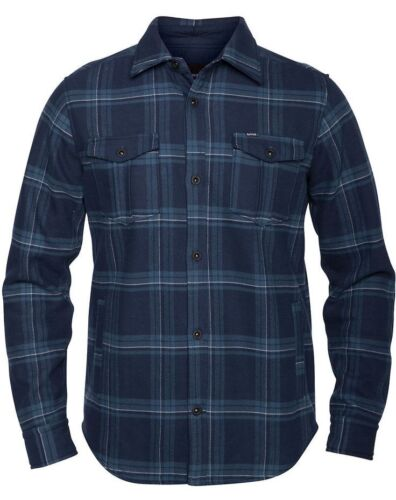 Hurley PIVOT Dark Obsidian Fleece Woven Long Sleeve Button Down Men/'s Shirt