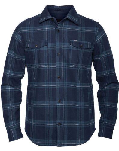 Hurley PIVOT Dark Obsidian Fleece Woven Long Sleeve Button Down Men/'s Shirt