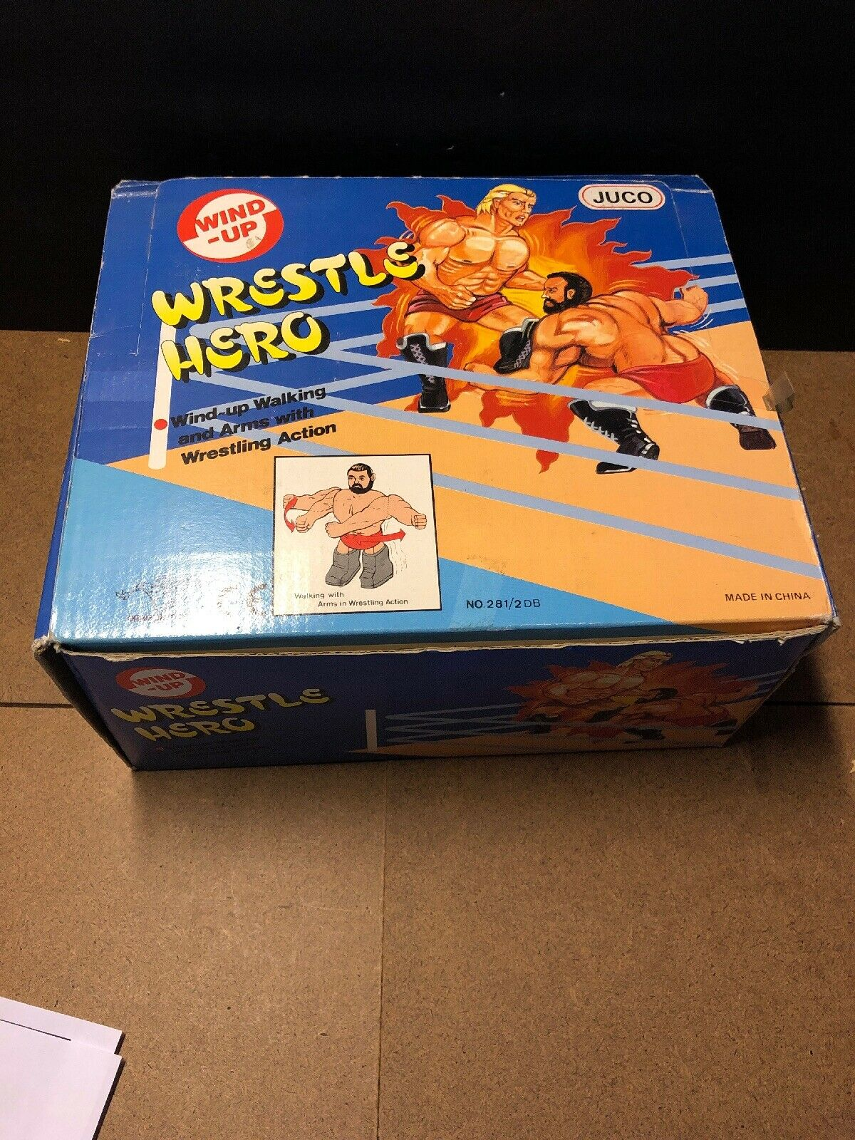 Very Rare Juco Vintage Wrestling Figure Wind Up Wrestle Hero KO Complete Box