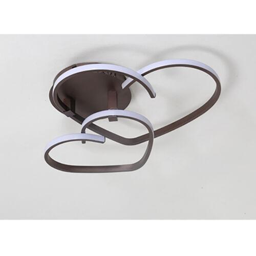 LED Deckenlampe Dimmbar Deckenleuchte Fernbedienung Herzförmige 34W 42W Licht