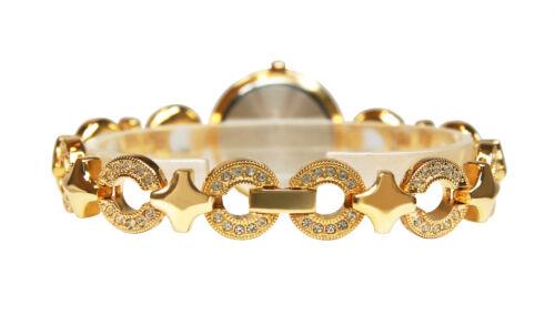 Bob Mackie Women's Gold-Tone Crystal Bracelet Watch M4314GX. New & Unworn.
