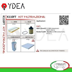 Set-Filtration-Fiat-500-II-1-3-MJ-Panda-II-169-1-3-MJ-4x4-Ydea-K110FT