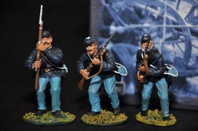 3 Soldati In Metallo Clubs Are Trumps 17304 Guerra Civile Americana Model 1/32 I Clienti Prima Di Tutto