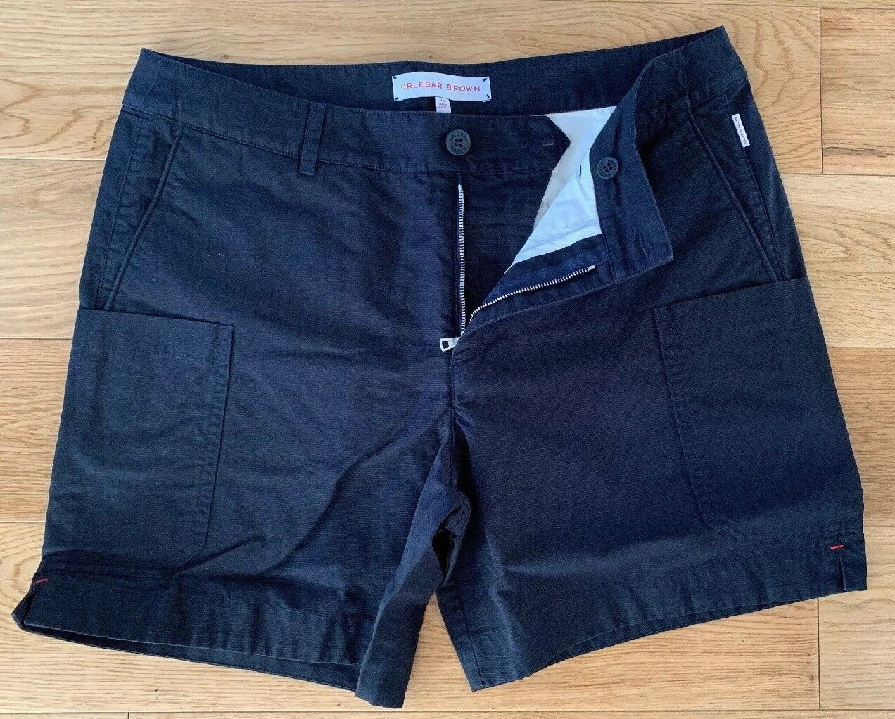 """New Orlebar braun Mens Cotton Blend Cargo Style Casual Day Shorts 32""""W Navy   Online Store"""