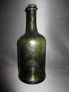 Détails sur ancienne bouteille en verre soufflé champagne fin XVIII ème début XIX ème