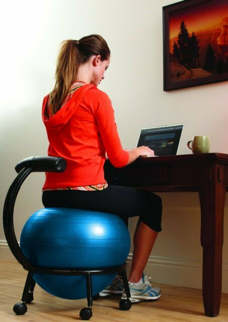 Exercise Ball Chair Balance Office Desk Computer Seat Improve Posture Roller New