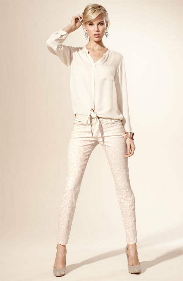 NWT Current Elliott The Stiletto Skinny jeans in Dusty Peach