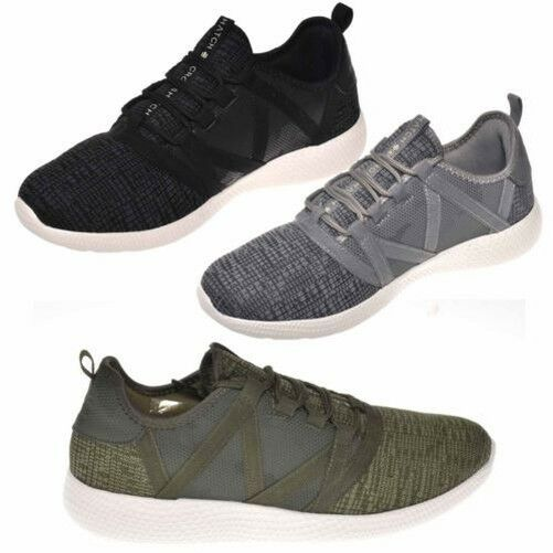 Mens Crosshatch Lightweight Running Sneakers Comfy Camp Print Trainers shoes