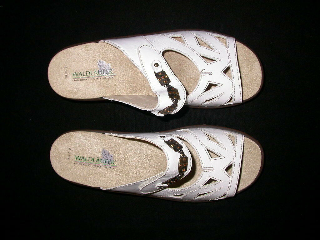 Waldlaufer Helin White Patent Slide Slide Slide Sandal 7 26ae2e