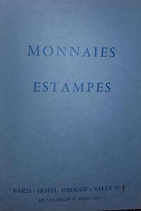1970 Catálogo De Venta Drouot Monedas Impresión