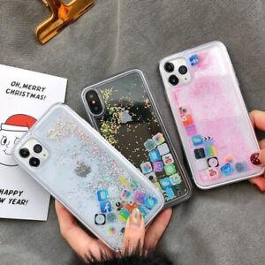 Glitter Ios App Icon Liquid Quicksand Case Cover For Iphone 11 Pro Xs Max Xr 8 7 Ebay