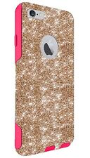 """Customized Glitter Otterbox Case Made For 4.7"""" iPhone 6/6s Gold/Pink"""