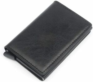 Men-039-s-Genuine-Leather-Wallet-RFID-Blocking-Aluminum-Automatic-Pop-Up-Holder