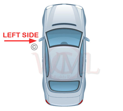 lado izquierdo Mercedes Clase a 2012 /> 2017 Puerta Espejo De Cristal Asférica climatizada /& Base