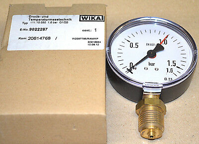 Erfinderisch Wika Manometer 111.10.080 / 1,6 Bar / G1/2b / Anschluss Unten Neu New Elegantes Und Robustes Paket