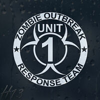 Zombie Outbreak Response Team Unit 1 Car Decal Vinyl Sticker For Window Bumper