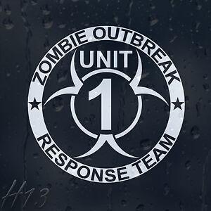 Zombie-Outbreak-Response-Team-Unit-1-Car-Decal-Vinyl-Sticker-For-Window-Bumper