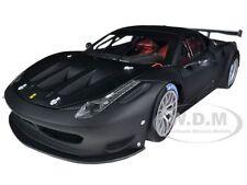 ELITE FERRARI 458 ITALIA GT2 MATT BLACK 1/18 DIECAST MODEL CAR HOTWHEELS BCK09