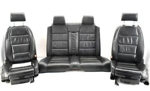 Audi-A4-S4-B6-B7-Cabrio-Convertible-Black-Leather-Complete-Interior-Set-Seats