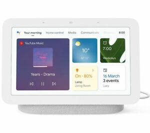 GOOGLE Nest Hub (2nd Gen) Smart Display with Google Assistant - Chalk - Currys