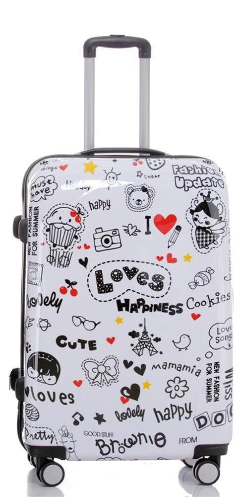 Design valise voyage valise coque rigide valise trolley 75cm 75cm 75cm 115l Motif LOVE bd0b40