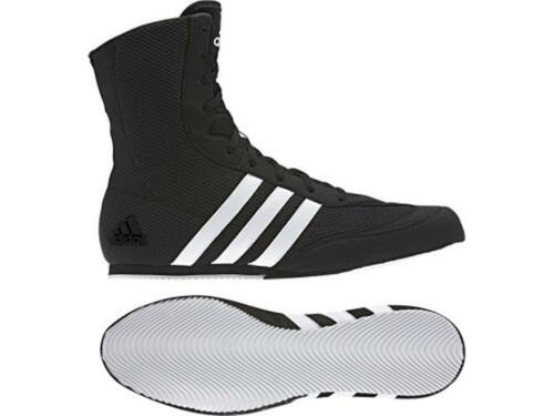 Adidas Box Hog Boxing Boots Sizes 4uk - 13uk Black/White stripes