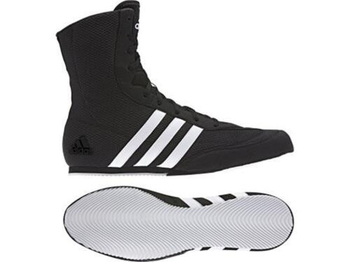 13uk Black//White stripes Adidas Box Hog Boxing Boots Sizes 4uk