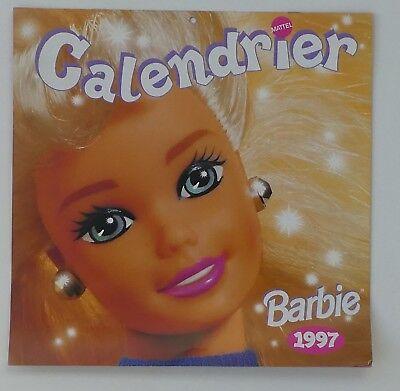 Calendrier 1997 Barbie Publicitaire Mattel 1er Semestre Calendar Lustro Incantevole