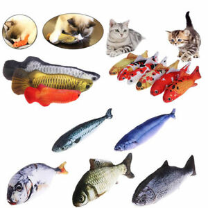 Pet-Cat-Play-Fish-Shape-Mint-Catnip-Chewing-Kids-Gifts-Interactive-Scratch-Toy