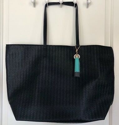 Bath /& Body Works Navy Tote Bag Large Purse VIP Mother/'s Day 2018 Braided
