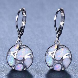 Fashion-925-Silver-White-Fire-Opal-Football-Dangle-Drop-Earrings-Wedding-Jewelry