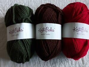 Knit Picks Brava Bulky yarn Cream lot of 2 136 yds each