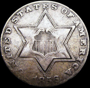 1856-Silver-Three-Cent-Piece-3cp-Nice-Type-Coin-S404