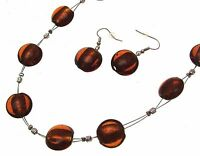 Necklace And Earring Set Jewellery Sets Glass Jewelry Glass Bead Necklace Inv013