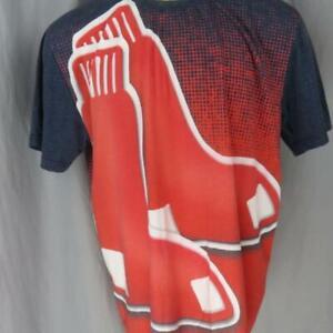Klew-Boston-Red-Sox-Grande-Logo-Uomo-2XL-T-Shirt-Fenway-Park-Baseball-MLB
