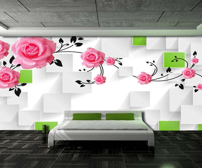 Fancy Pink Peony 3D Full Wall Mural Photo Wallpaper Printing Home Kids Decor