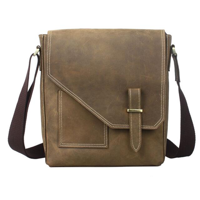 New Arrival Fashion Genuine Leather Weekend Shoulder Bag Mens Messenger Satchel