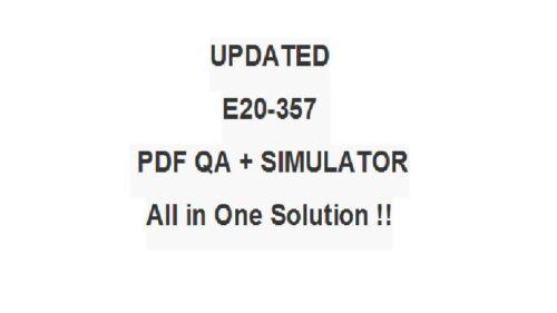 EMC Practice Test E20-357 Exam QA PDF/&Simulator
